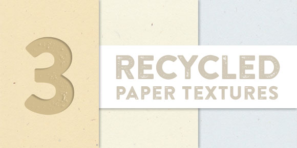 3 recycled paper textures preview