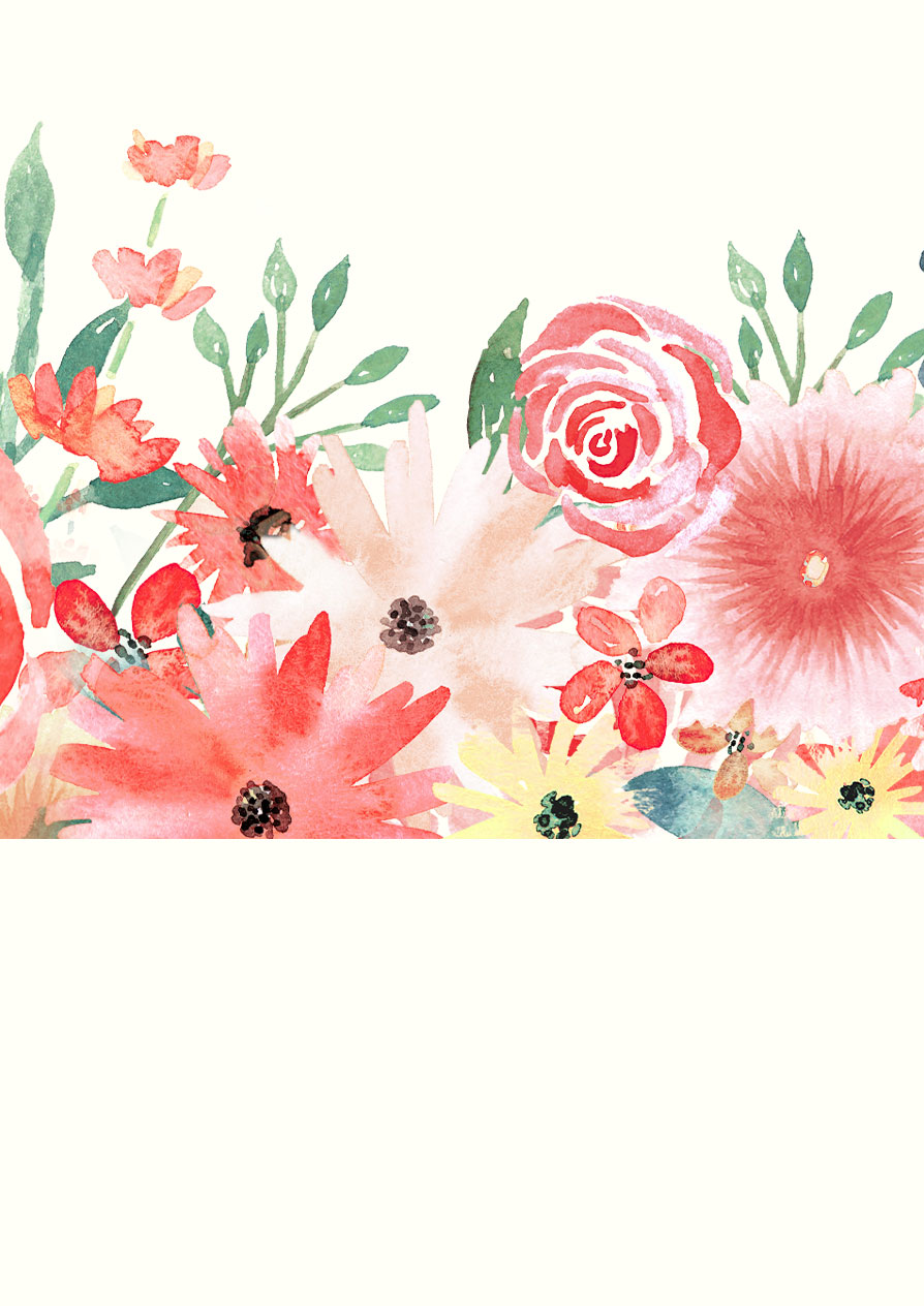 Watercolor Florals For Graphic Design Every Tuesday