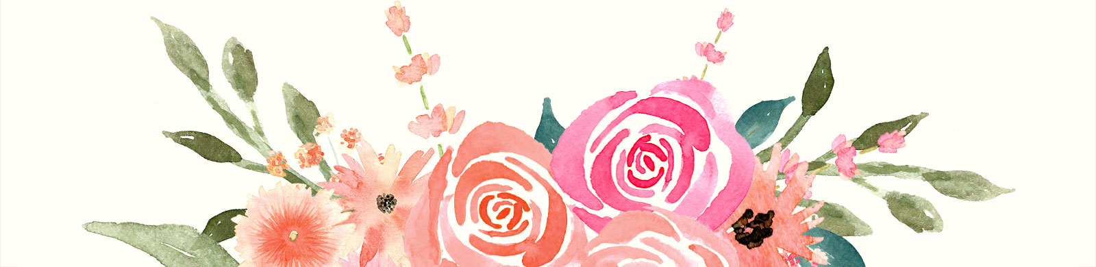 Watercolor Florals for graphic design