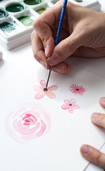 Watercolor Florals Supplies