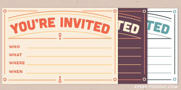 free printable invitation postcard