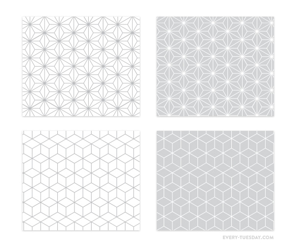 Freebie: Geometric Photoshop Patterns