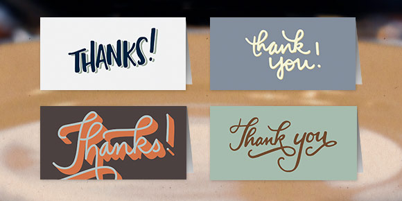 free mini thank you cards