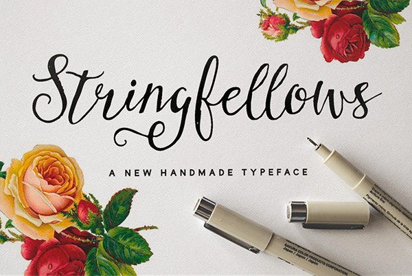 stringfellows script font preview