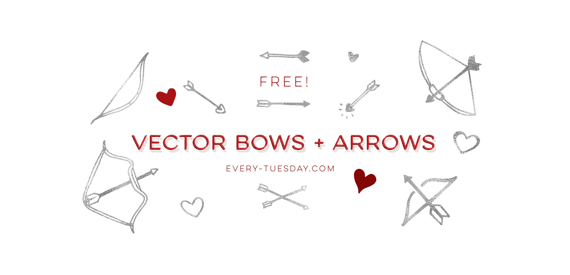 free vector bows and arrows