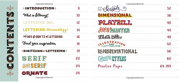 hand lettering ledger sneak peek