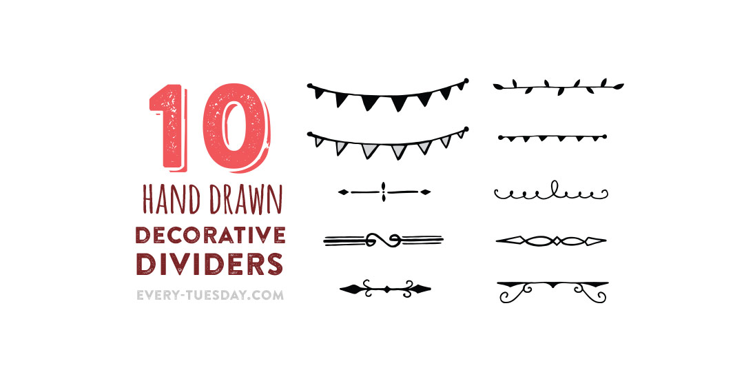 freebie 10 hand drawn decorative dividers