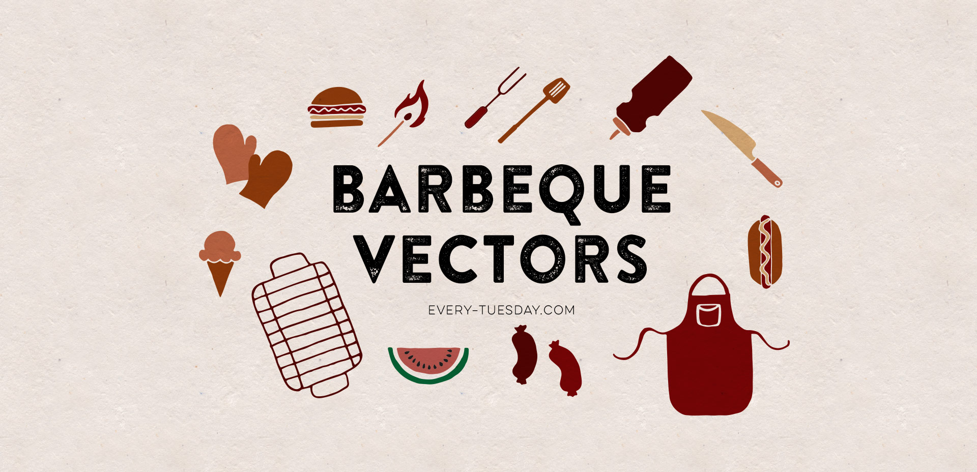 hand drawn bbq vectors
