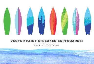 vector paint streaked surfboard preview