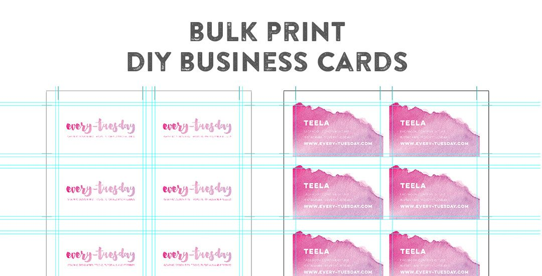 Bulk print diy business cards using illustrator flashek Choice Image