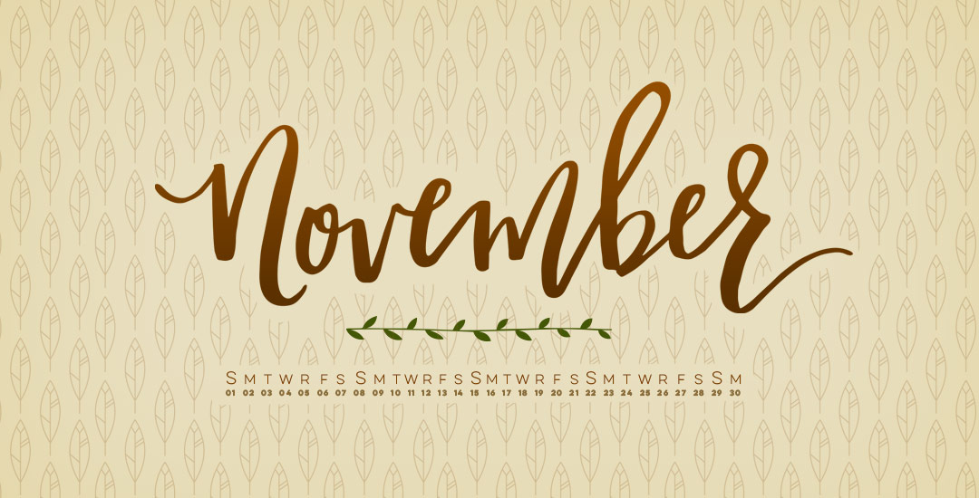 hand lettered november desktop wallpapers preview