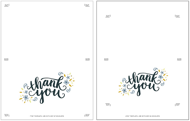 freebie printable thank you card