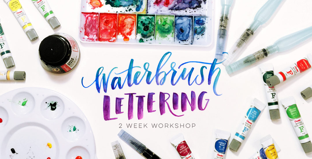 waterbrush lettering workshop