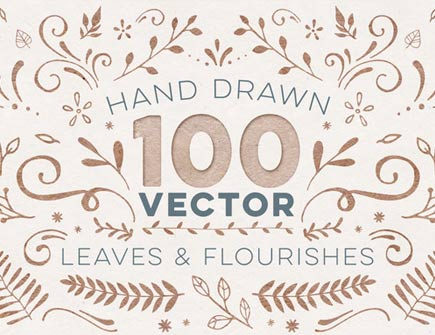 100 Hand Drawn Vectors