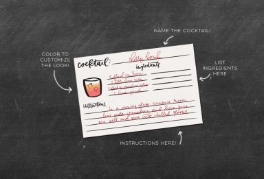freebie: recipe cocktail recipe cards