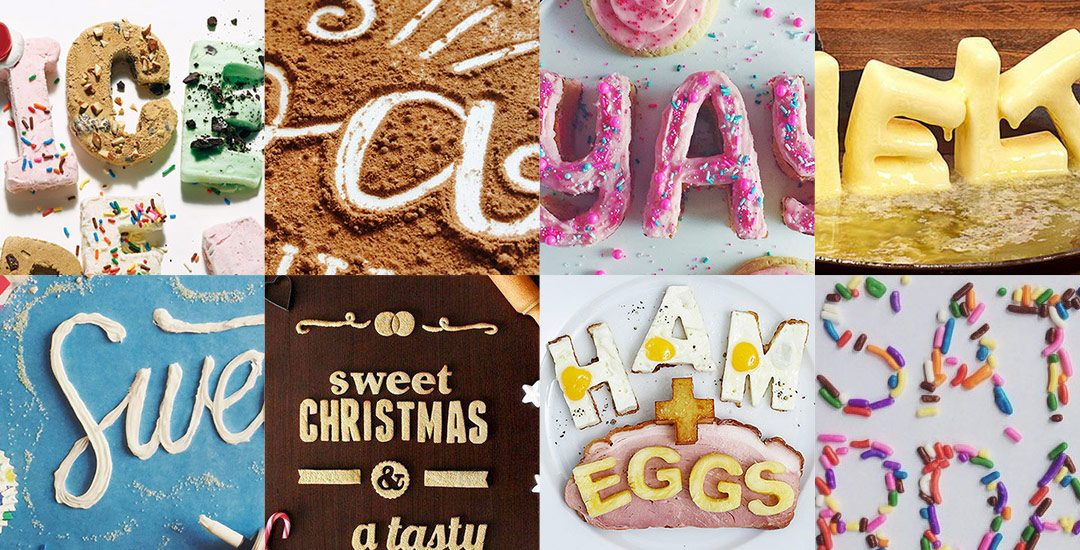 food typography preview
