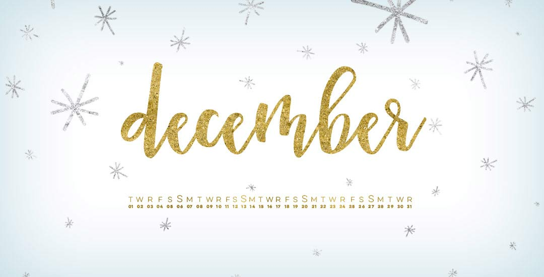Freebie Hand Lettered December Desktop Wallpapers