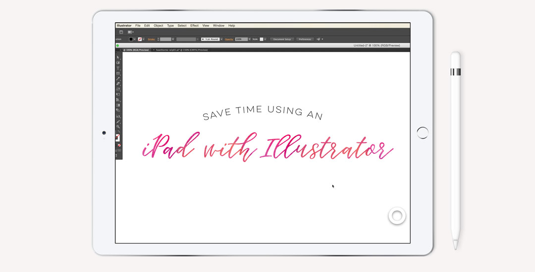 save time using an ipad with illustrator