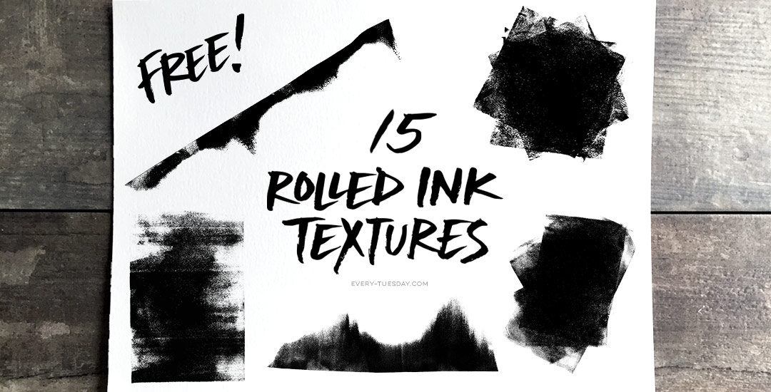 freebie: 15 rolled ink textures