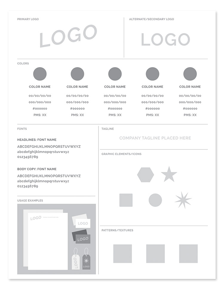 brand style guide base template preview