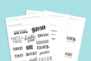freebie: hand lettering style inspiration guide