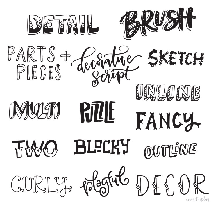 different letter styles freebie lettering style inspiration guide every 413