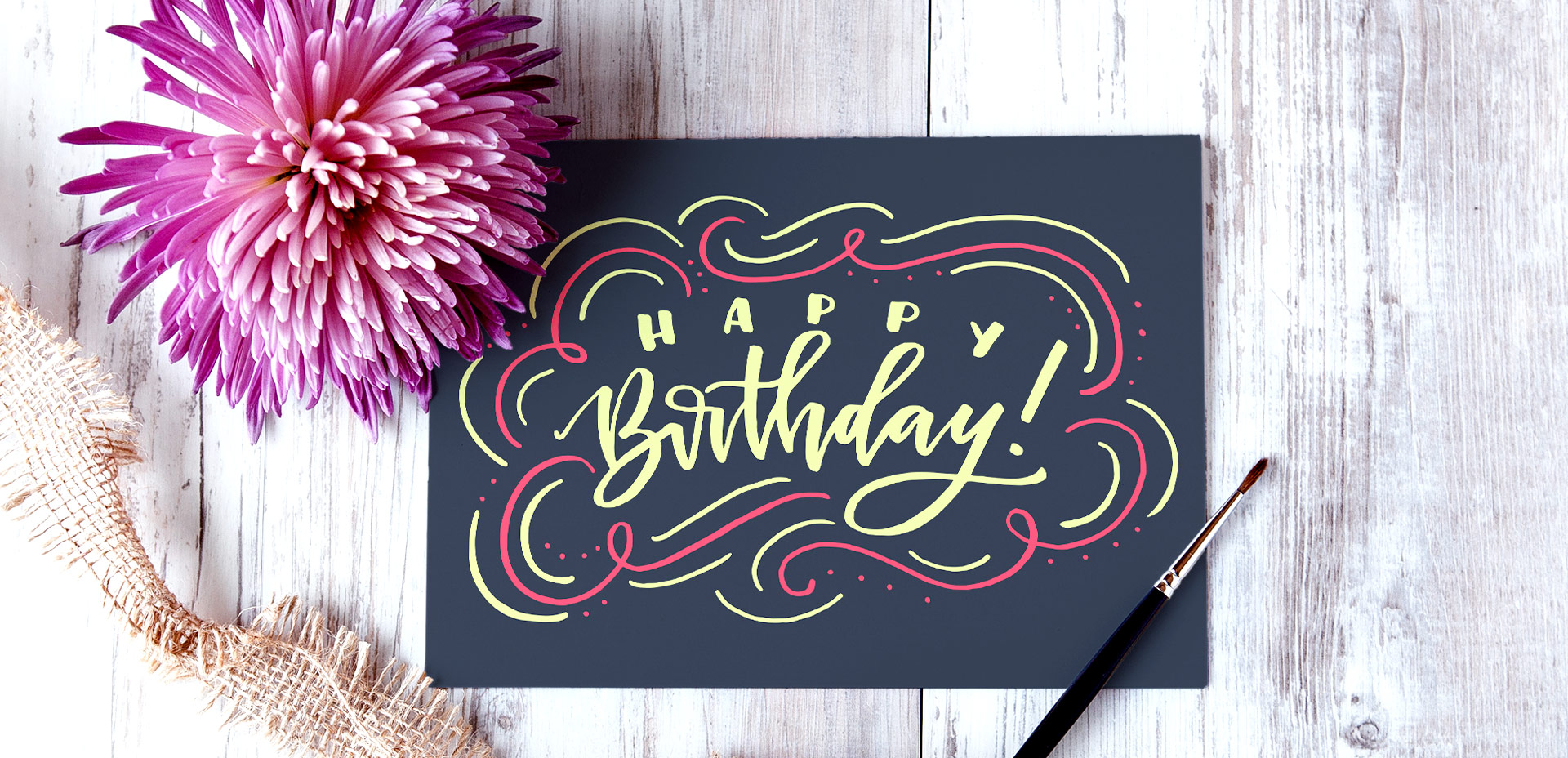 how to create a hand lettered birthday card in Illustrator