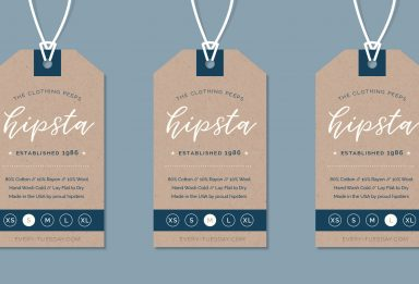 create a hipster clothing tag in illustrator