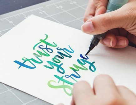 Brush Lettering with Watercolors