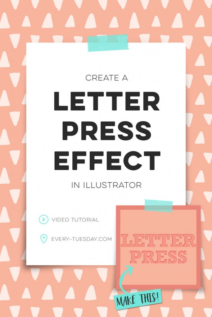 how to create a letterpress effect in Adobe Illustrator