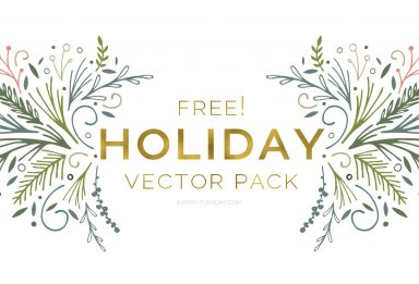 free holiday vector pack
