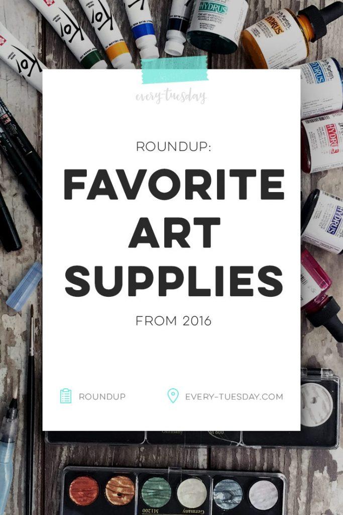 favorite art supplies from 2016