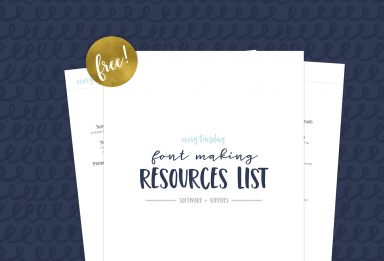 free font making resources list
