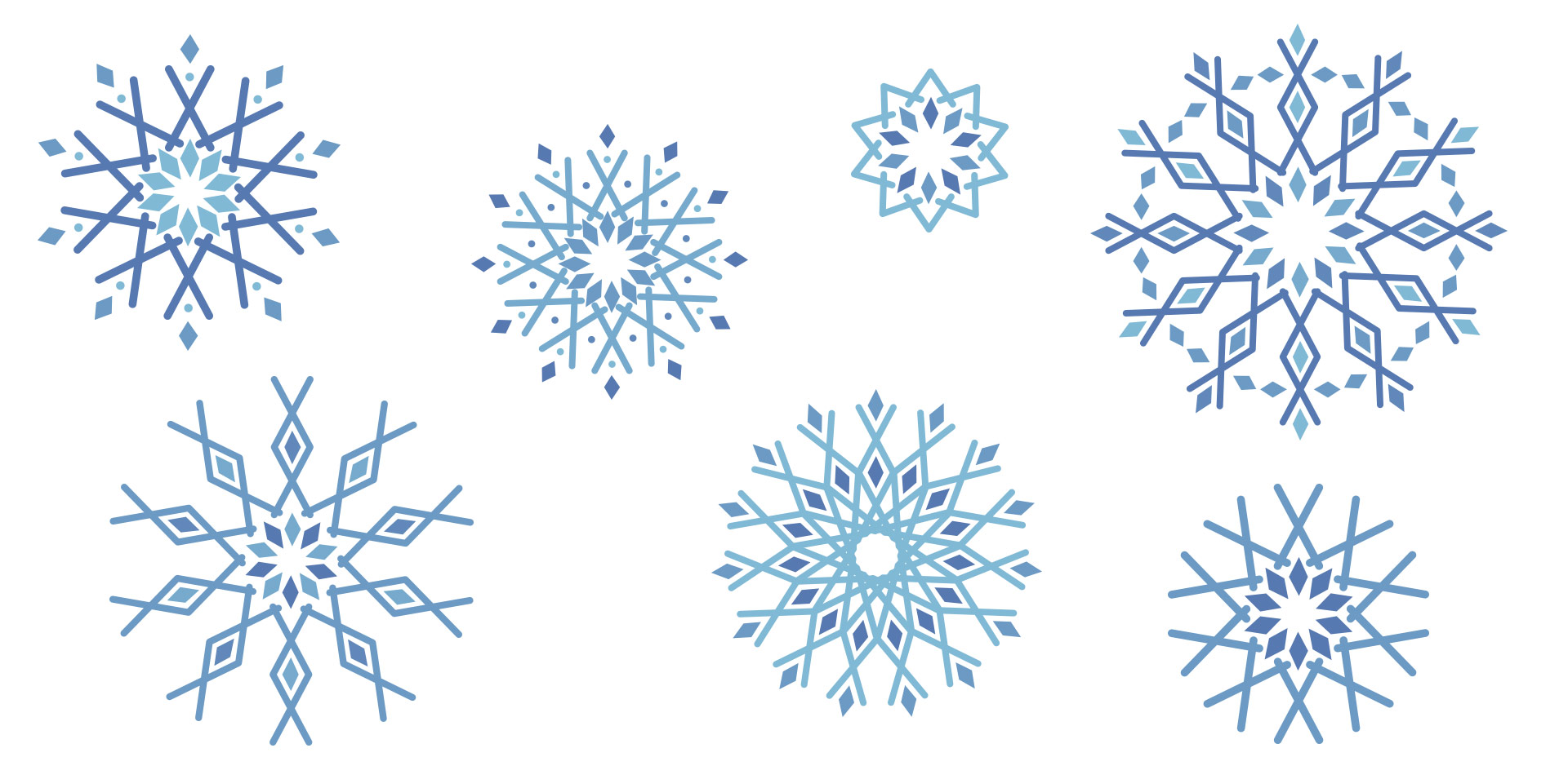 create geometric snowflakes in adobe illustrator