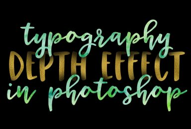 simple depth typography effect in photoshop
