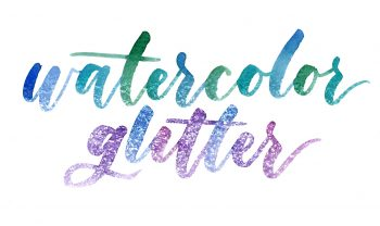 watercolor glitter effect in photoshop