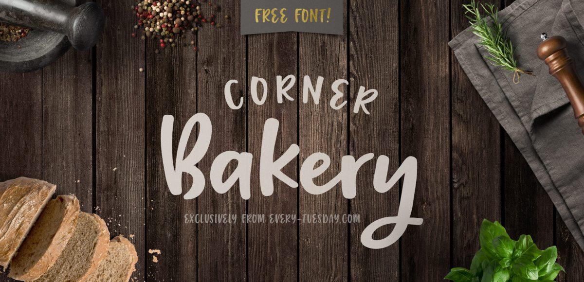 free font corner bakery