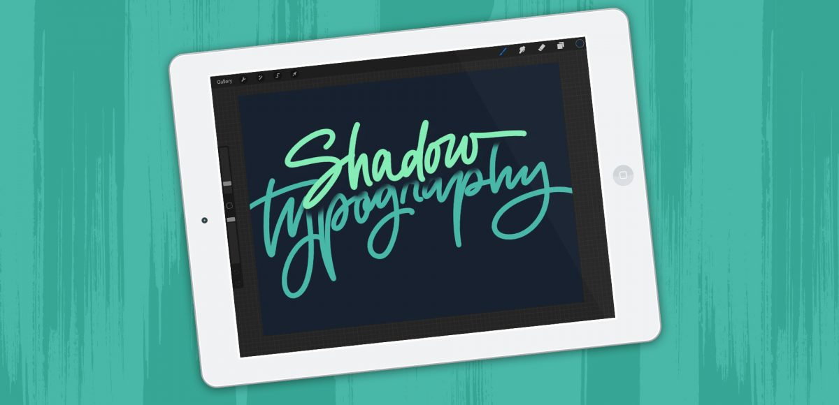 ipad lettering: create shadow depth typography in procreate