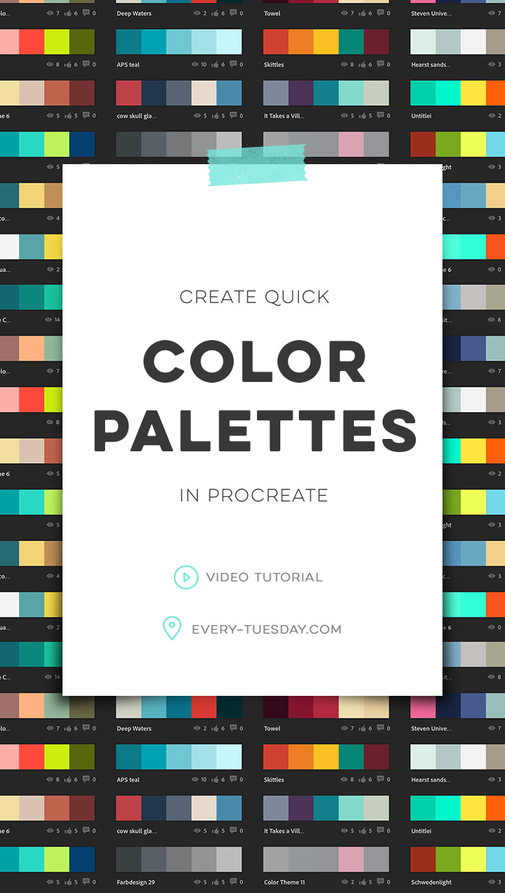 Create Quick Color Palettes In Procreate