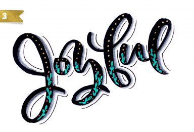 holiday hand lettering projects week 3