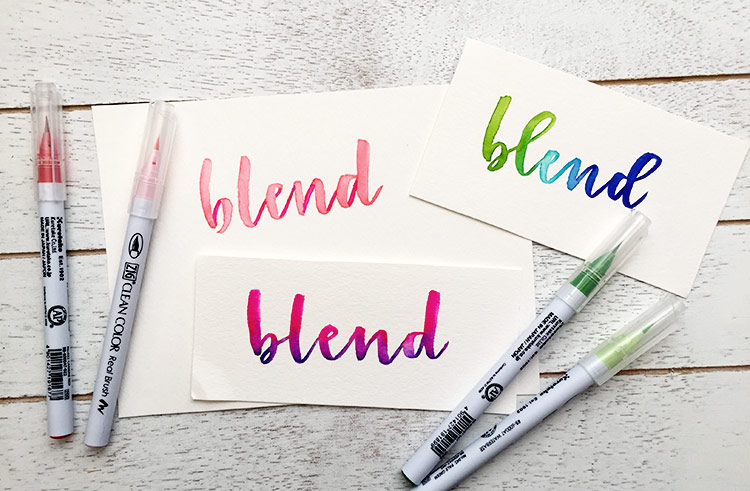 3 watercolor lettering effects