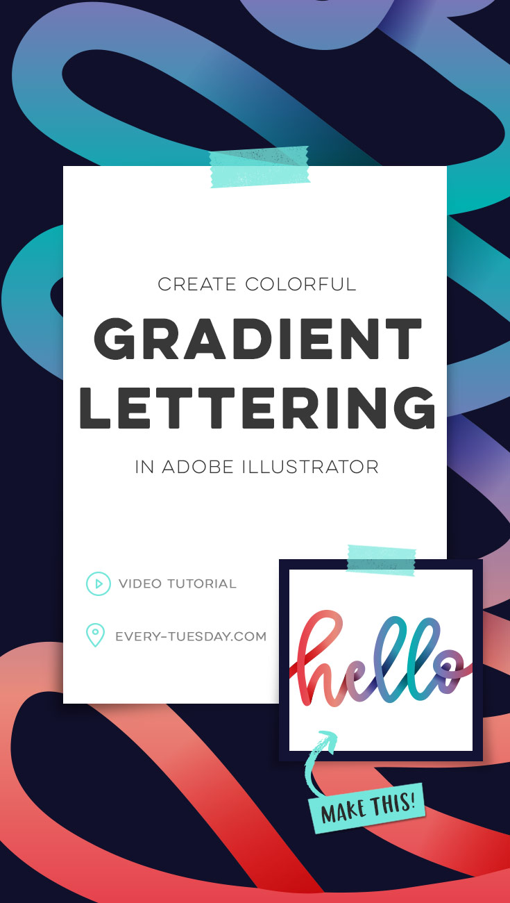 create colorful gradient lettering in adobe illustrator