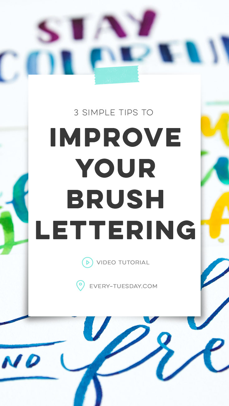 3 simple tips to improve your brush lettering