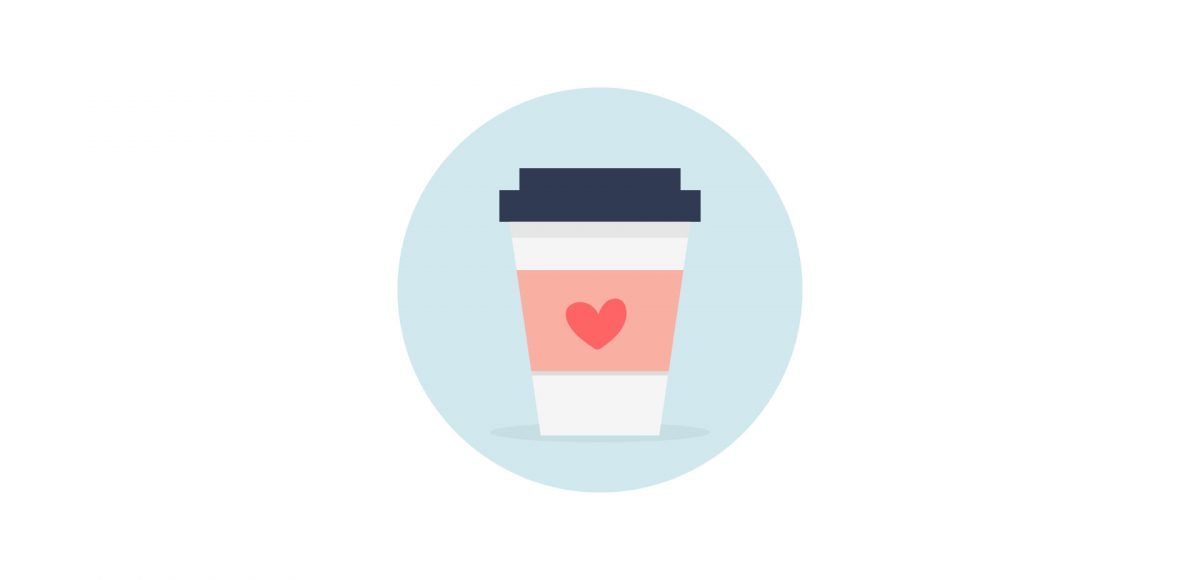 create a vector coffee icon in adobe illustrator