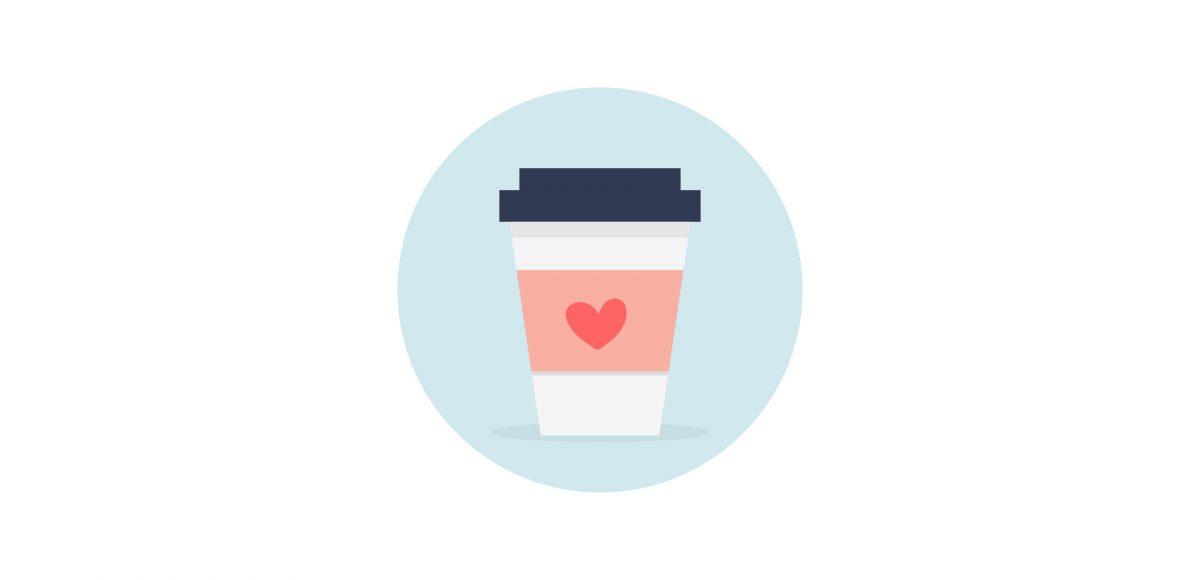 create a vector coffee icon in adobe illustrator