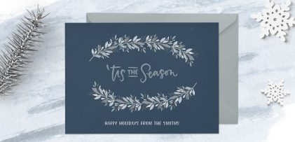 Create a Winter Watercolor Holiday Postcard