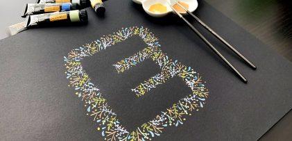 Paint Leafy Gouache Letters