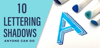 10 Lettering Shadows Anyone Can Do