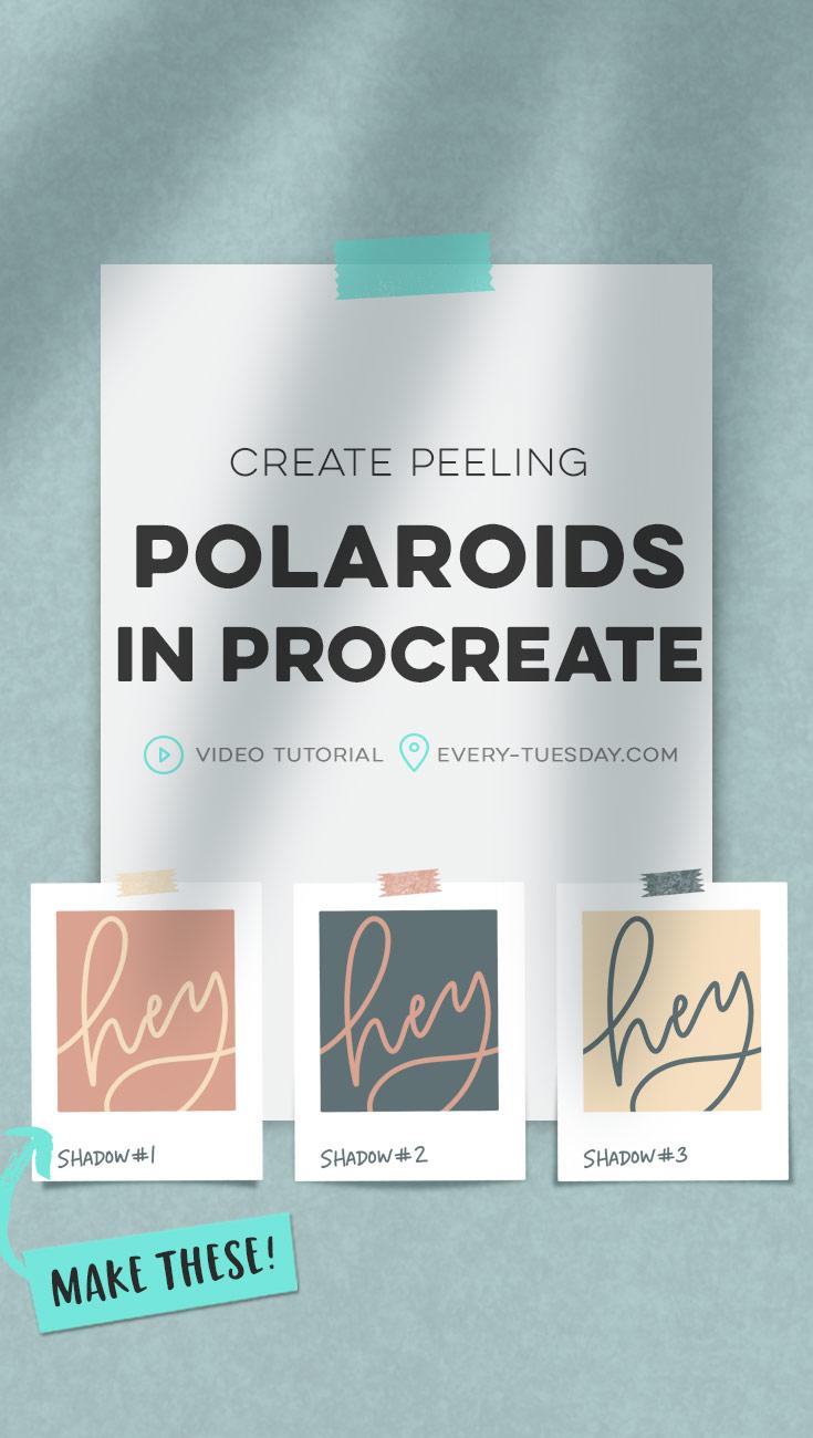create peeling polaroids in procreate